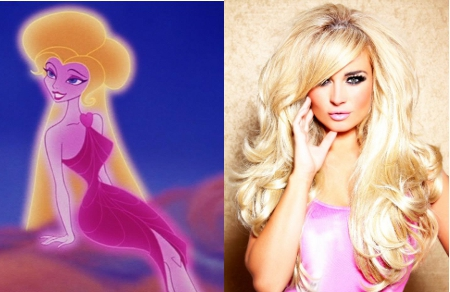 amanda harrington, aphrodite, Hercules, Disney, lookalike,